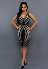Womens Sleeveless Bandage Bodycon Evening Party Cocktail Lady Pencil mini Dress