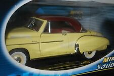 Mira Solido 1950 Chevy Bel Air Yellow w/ Red Top # 8084 1:18 Scale w/ Box JM 9G