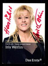 Iris Werlin Eine für alle Autogrammkarte Original Signiert # BC 65214