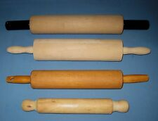 Lot 4 VTG/Primitive Wood/Wooden Farm House Rolling Pins Maple/Pie/Cookies/Pasta!