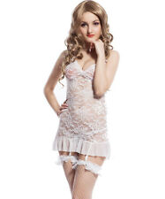 N-Gal: Women Nightwear, Sleepwear, Chemise Nighty, Lingerie- NY7530-White