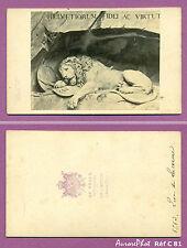 CDV AD. BRAUN À DORNACH : SUISSE , SCULPTURE, LE LION DE LUCERNE  VERS 1865 -C81