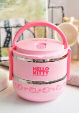 Hello Kitty Stainless Steel Insulated Bento Lunch Box Food Container for Kids