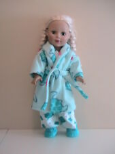"Turtle Pajama/Robe/Slippers Set 18"" Doll Clothes American Girl"