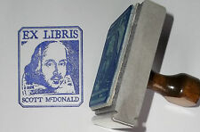 Custom Shakespeare Ex Libris Bookplate rubber stamp by Amazing Arts