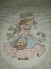 Gorgeous Vintage HOLLY HOBBIE QUILTED BEDSPREAD