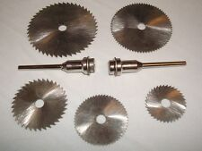 5 HSS Circular Saw Blade Rotary Tool Accessory + 2 Mandrels - Fits Dremel #S45