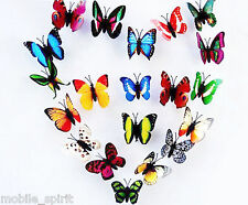100x Pack 3D Colorful Artificial Butterflies for Wedding Parties Decorations New