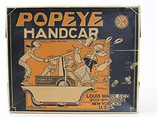 Vintage Popeye Handcar Windup Tin Toy BOX ONLY, GREAT BOX, BOX ONLY