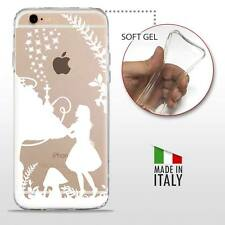 iPhone 6 6S TPU CASE COVER PROTETTIVA GEL TRASPARENTE Disney Alice White