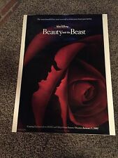 Beauty and the Beast Movie Poster 27x40 One Sheet **Rare Imax Version