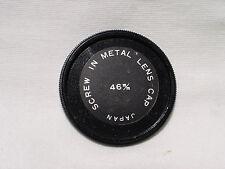 one vintage 46mm metal screw in front lens cap  Japan #01162