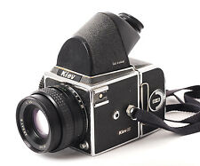 Kiev 88 Camera + 80mm +Film Back + Prism. (B on shutter not working) (0875)