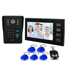 "7"" LCD RFID Card Password Video Doorbell Phone Intercom keypad Remote Control"