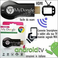 MY DONGLE STREAMING MEDIA PLAYER NO CHROMECAST HDMI WIFI PER TV UNITED LED