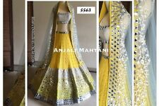 Designer Bridal Partywear Yellow Latest Lehenga Choli