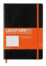 Leuchtturm1917 Notebook (A5) Whitelines Link - Medium Ruled - BLACK (345311)