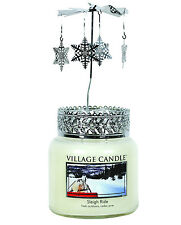 Village Candle - AROMA ROTARY JAR TOP FAN SPINNER  - Snowflake Christmas