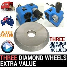 W/3XWHEELS ELECTRIC PRO DRILL BIT SHARPENER SHARPENING TOOL DOCTOR GRINDER 3-13M
