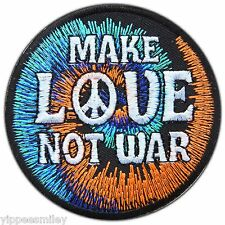 Peace Love Not War Boho Power Hippie 70s Rasta Pot Weed Sew Iron-On Patches 0639