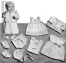 "PEDIGREE/ BABY DOLL Layette 18"" - doll knitting pattern"
