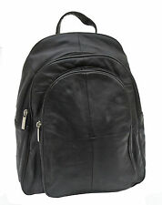 EX DISPLAY BAG Lightweight Soft Black Leather Backpack Rucksack _NEW