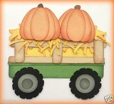 HAY BALE IN TRAILER WITH PUMPKINS PAPER PIECING PREMADE  MY TEAR BEARS KIRA