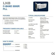 New Norsat 5500R, C Band PLL LNB