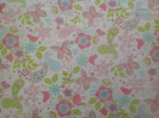 ~ FLANNEL ~ Birds~Butterfly~Flowers~Quilting~Fabric~Flannelette~Pink~Girls~ FQ ~