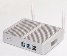 Mini PC HTPC KIT Fanless Intel i3 5005U 8G DDR3 128GB SSD WiFi DHL  12V CAR