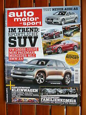 Chevrolet Camaro SS - VW Cross Coupé - Mini Paceman - BMW X4 - AMS Heft 26/2011