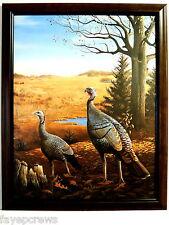 WILD TURKEY PICTURE FRAMED PRINT 15 1/2 X 20
