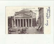 89017 ANTICA CARTOLINA DI ROMA  PANTHEON