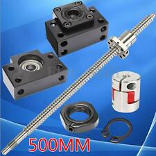 Antibacklash Ball Screw 1605-L500mm + Ballnut +Couplers +BK/BF12 Supporting Seat