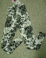 Women GANDY DANCER skinny pants NWT SM Black/white floral leggins HIGH QUALITY