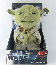 "SECOND DISPLAY BATTERIES RUN OUT STAR WARS YODA 11"" MOUTH MOVING TALKING PLUSH"