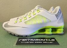 Nike Shox Superfly R4 White Wolf Grey Volt Women's Sz 8 Classic NZ Turbo NEW!!!