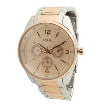 FOSSIL *Authentic* BQ1404 Rose Gold and Silver Unisex Watch