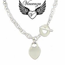 Heart Pendant Charm Engraved Name Necklace Silver Plated Graduation Jewellery UK