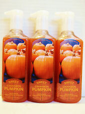 Bath Body Works SWEET CINNAMON PUMPKIN Anti-Bac Deep Cleanse Hand Soap, NEW x 3