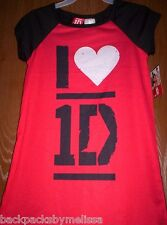 ONE DIRECTION I heart 1D LOVE Nightgown PAJAMAS Girls 7/8 NeW s/s.Pjs Harry Liam