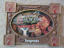 1970's Baseball Hall of Fame Seagram's Wall Plaque