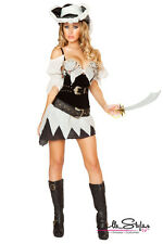 Sexy Shipwrecked Sailor Pirate Raider Girl Halloween Costume Outfit Adult Women