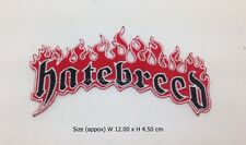 Hatebreed embroidered sew iron on patch metalcore rock band music DIY