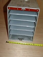 Airline Galley Box Carrier Case with Sliding Locking Pocket Door and Five Trays