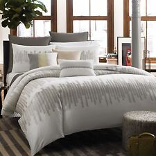 KENNETH COLE REACTION HOME FROST 1 KING DUVET COVER EMBROIDERED