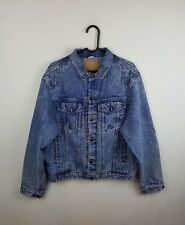 VTG ACID WASH RETRO URBAN RENEWAL TRUCKER DISTRESSED OVERSIZED DENIM JACKET M/L