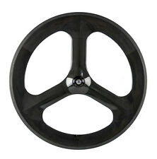 700C Tri Spoke Carbon Wheels Track Bike/Fixed Gear Tri Spoke Wheels Custom Wheel