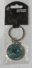 NHL NIB SPINNING LOGO KEY CHAIN - SAN JOSE SHARKS