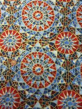Red Blue Metallic 100% Cotton fabric Quilt Craft Ro Gregg PBS A Star Is Born